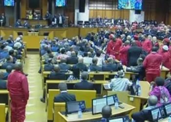 sona2015 chaos Malema
