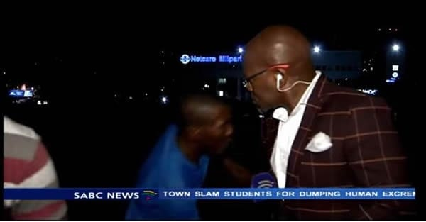 SABC Mugged Live on Camera