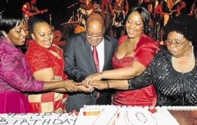 Zuma with wives